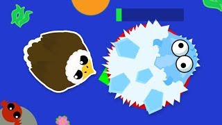How I TROLLED an Ice Monster for XP in MOPE.IO