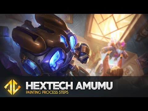 Hextech Amumu - League of Legends Splash Art Painting Process