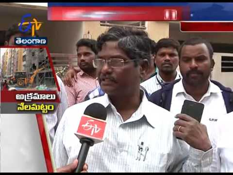 HMDA Continues Demolition Drive on Illegal Constructions  Bandari Layout , Hyderabad