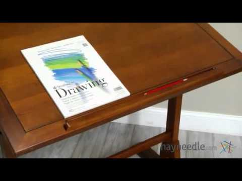 Studio Designs Vintage Drafting Table   Rustic Oak   Product Review Video