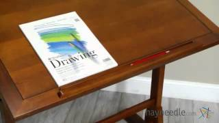 Studio Designs Vintage Drafting Table - Rustic Oak - Product Review Video
