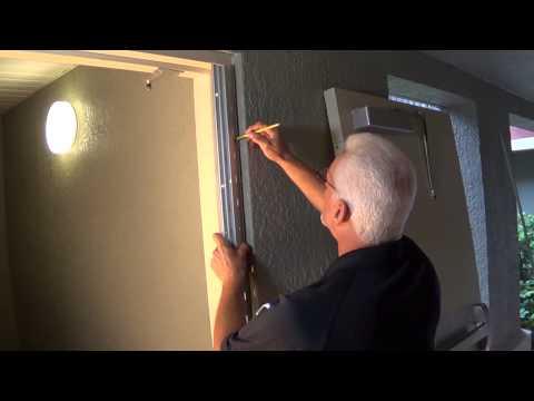 Continiuous Hinge Installation Stairway Door