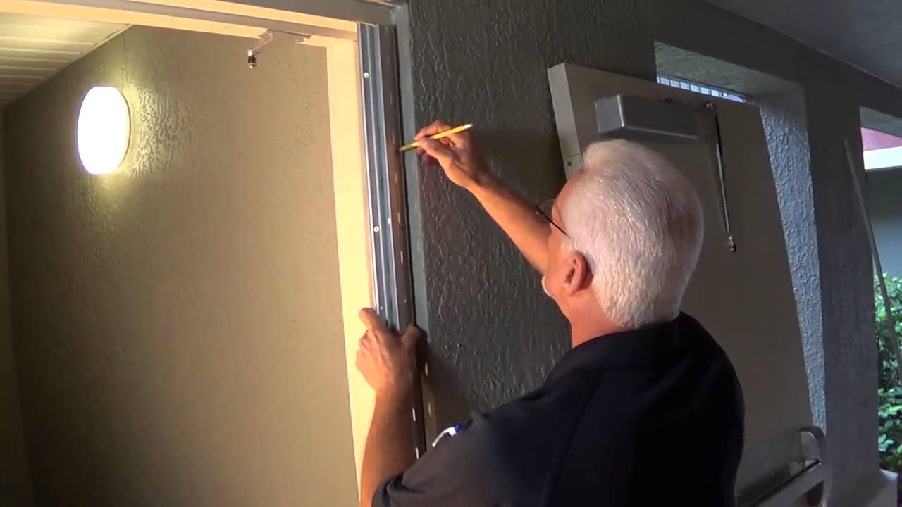 Continiuous Hinge Installation Stairway Door Youtube