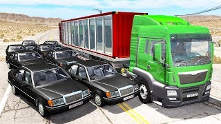 Beamng drive - Bandits Chases vs. Truckers crashes #2
