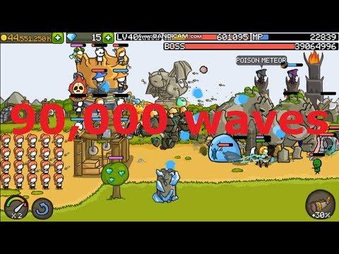 Grow Castle - 90,000 waves!!