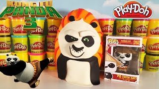 Giant KUNG FU PANDA 3 Play Doh Po Surprise Egg | Funko Pop   & Blind Boxes