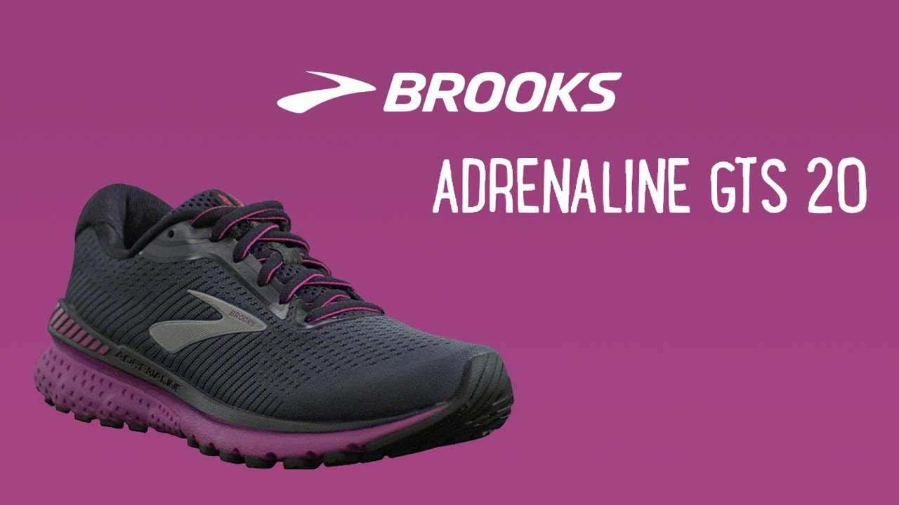 BROOKS ADRENALINE GTS 20 WOMENS LADIES SUPPORT RUNNING TRAINERS SHOES 7 7.5 9