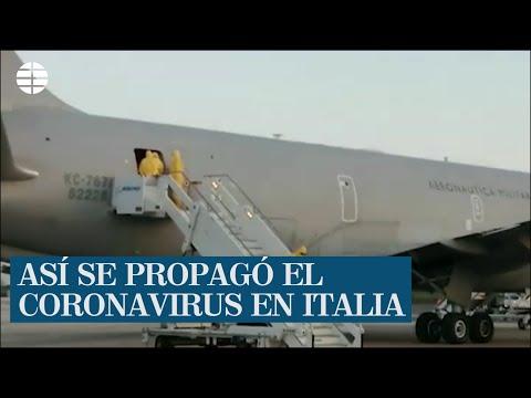 Así se propagó el coronavirus en Italia, en tan sólo 19 días