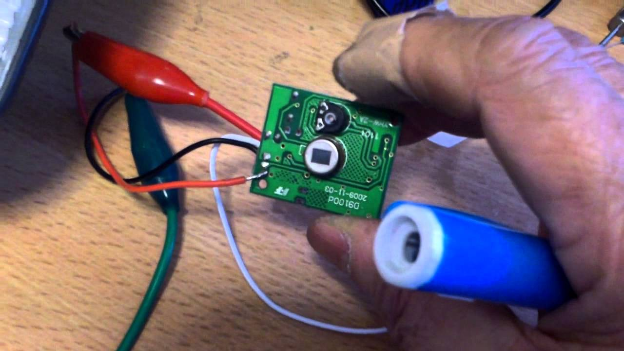 And For Light Switch With Motion Detector Wiring Diagram Make Your Own Simple Motion Sensing Led Light Part 1 Youtube