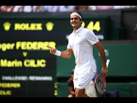 Roger Federer VS Marin Cilic Highlight 2016