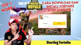 100% WORK! HOW TO DOWNLOAD AND INSTALL FORTNITE ON ANDROID HP (BETA)