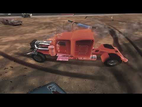 flatout 3 : derby 7 with replay with my truck
