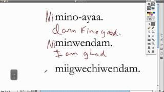 Ojibwe Language Lesson The Prefix Ni-