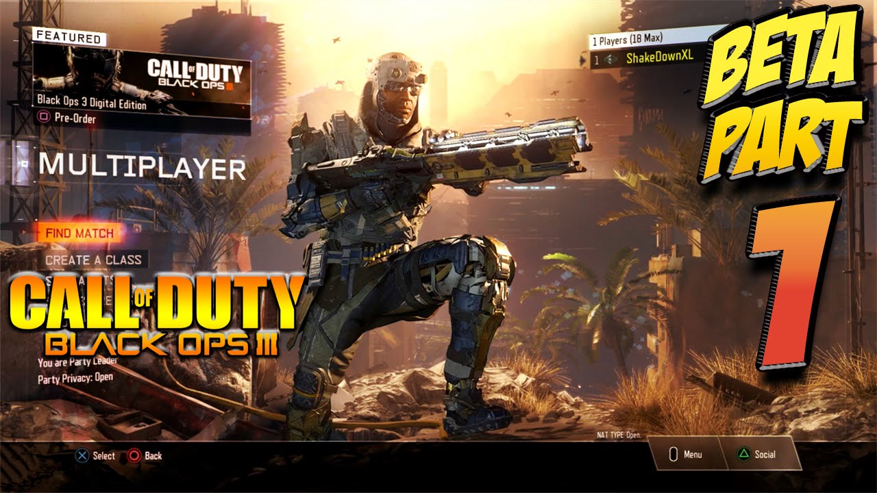 Call Of Duty Black Ops 3 Beta Gameplay Part 1 Specialists Guns