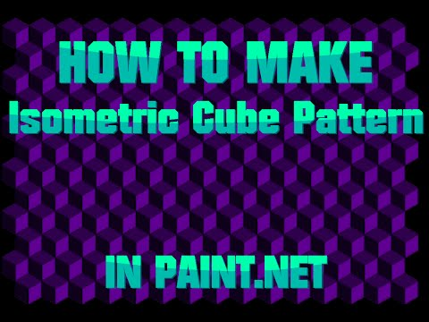 how to make a Isometric Cube Pattern in paint.NET | Ancient turtorials