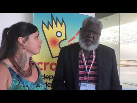 Tiwi Islands Elder Bernard Tipiloura with Summer May Finlay