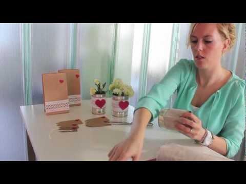 Diy voor je bruiloft tafeldecoratie youtube for Decoratie bruiloft zelf maken
