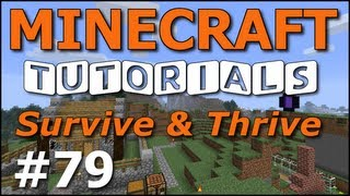 Minecraft Tutorials - E79 Hopper Basics (Survive and Thrive Season 5)