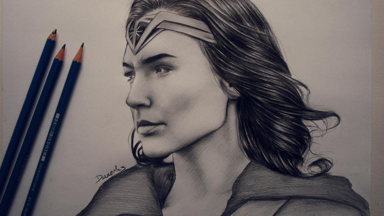 Wonder Woman 2017  Speed Drawing  YouTube