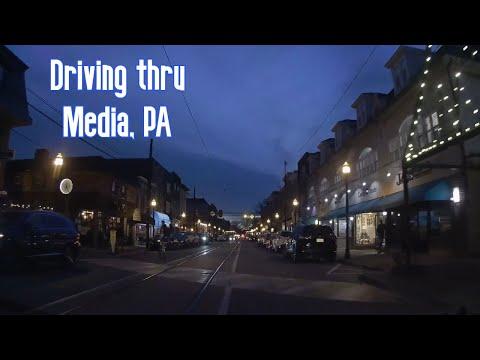DRIVING THRU MEDIA PA ON A NICE FRIDAY NIGHT