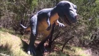 Fun at DINOSAUR WORLD PARK Texas! GIANT- Life size dinosaurs