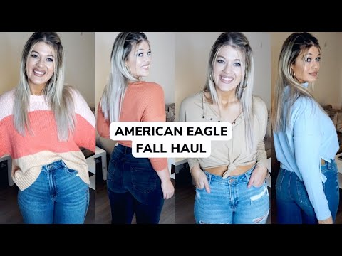 CURVY AMERICAN EAGLE FALL 2020 TRY ON   NEW AE MOM JEANS