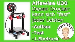 3D Drucker TOP für 160,- Euro Alfawise U30 Aufbau Inbetriebnahme Testdruck   IngosTipps