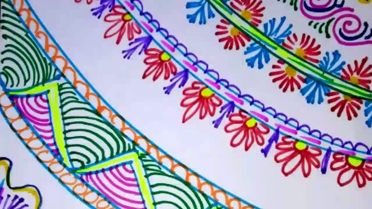 Easy simple and attractive border designs project file chart paper also rh youtube