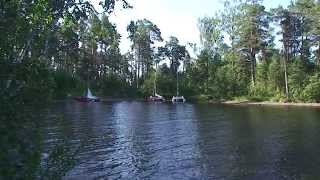 Карелия 2011 Онежское озеро Природа  Lake Onega Nature(Lake Onega Nature Hike to a folding sailing catamaran., 2015-02-26T03:23:25.000Z)