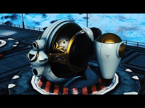 No Man's Sky - White and Gold 'Side Jets' Exotic - NEXT 1.60