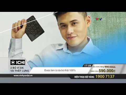 ICHI- 2 bộ ví và thắt lưng nam  da thật