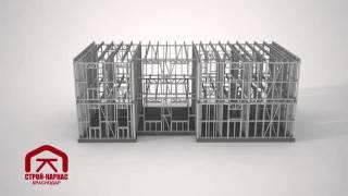 Каркасное строительство домов по системе 'Двойной каркас ЛСТК'