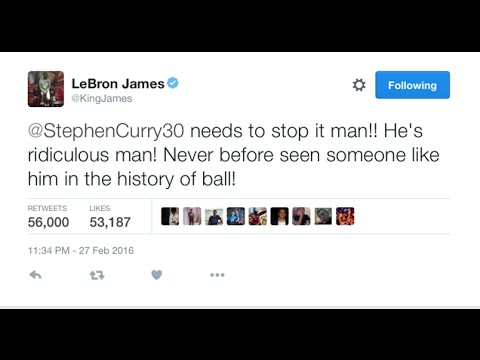Lebron James' Latest Tweet To Curry