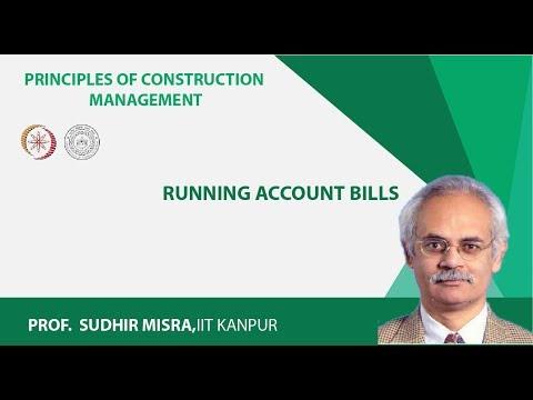 Running account bills