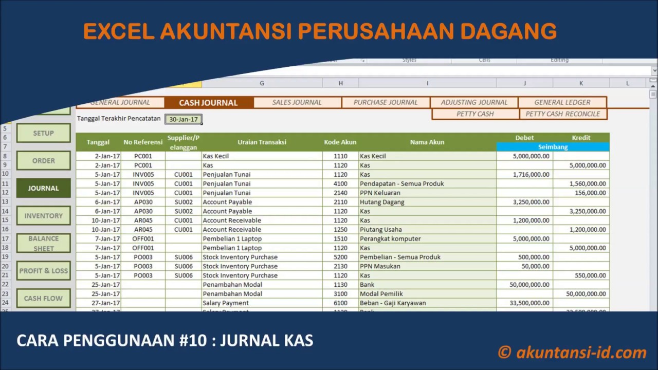 Download File Excel Laporan Keuangan Perusahaan Dagang