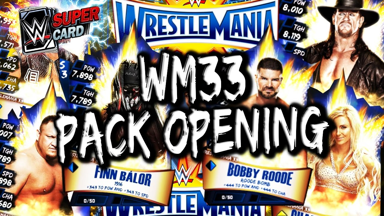 WWE SUPERCARD S3 – HUGE WRESTLEMANIA 33 PACK OPENING!! (WM33 PACKS)