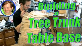 Carved Tree Trunk Base for Slab Table - How I Built It