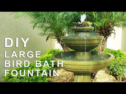 DIY Bird Bath Fountain. It would save you Thousands of Dollars.
