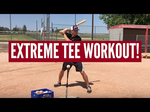 Extreme Baseball Tee Workout for Hitters (MUST TRY!!)