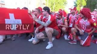 Russia: Swiss fans paint Nizhny Novgorod red ahead of Costa Rica clash
