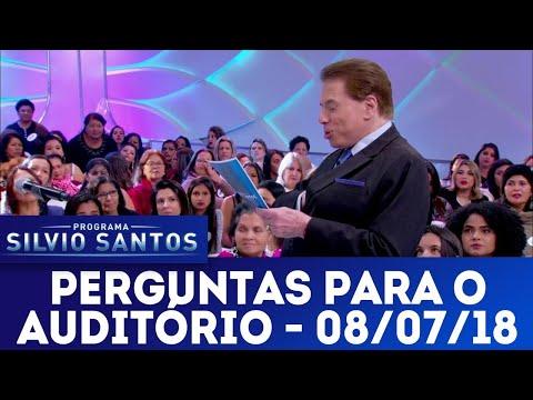 Perguntas para o auditório | Programa Silvio Santos (08/0/18)