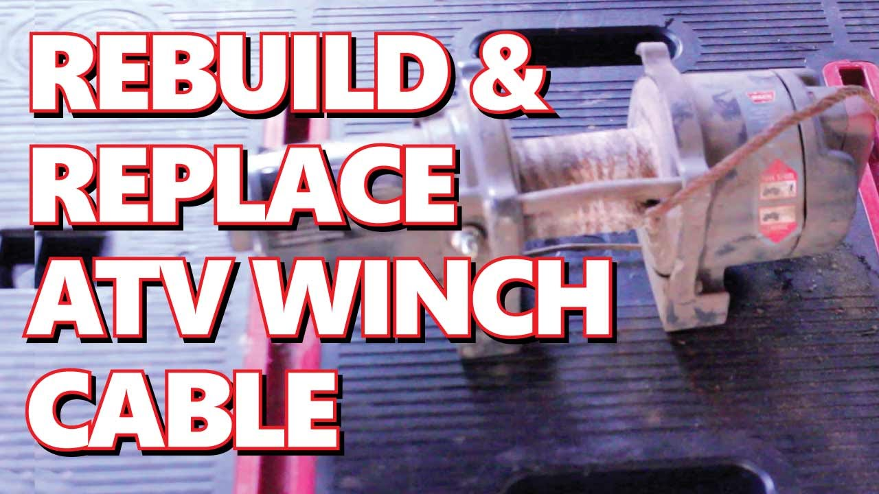 rebuild xl warn winch rebuild replace steel winch cable rebuild xl 3000 warn winch rebuild replace steel winch cable