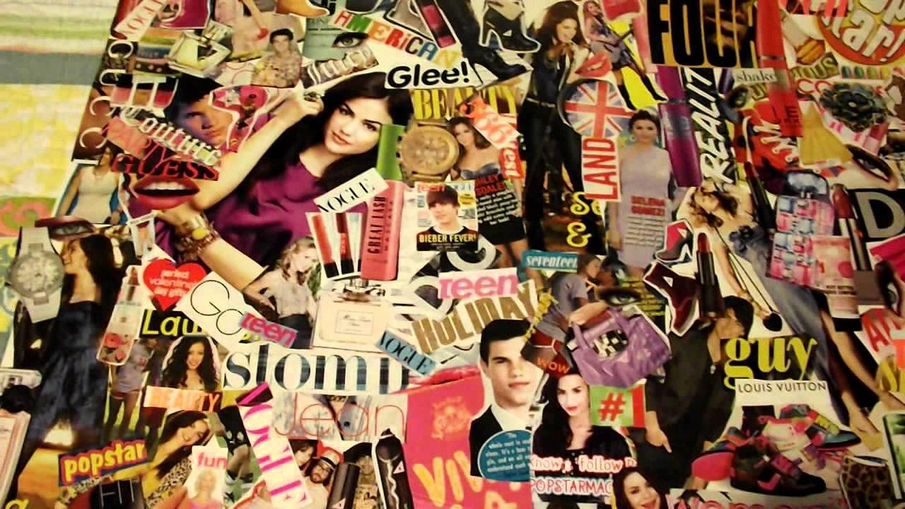 Cute Girly Wallpaper For Bedroom How To Make A Magazine Collage Youtube