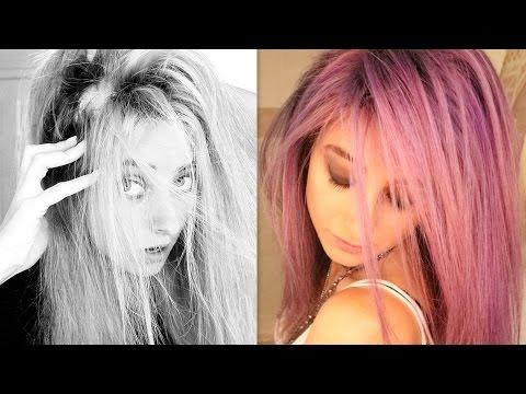 I RUINED my hair! Purple hair dye FAIL & WIN?