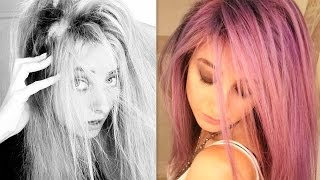 I RUINED my hair! Purple hair dye FAIL & WIN?