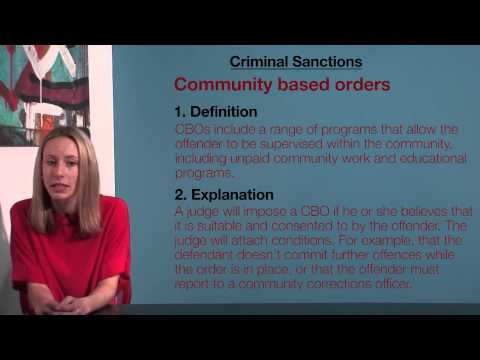 VCE Legal Studies - Criminal Sanctions