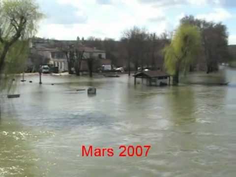 Bourg-Charente : la crue de la Charente de mars 2007