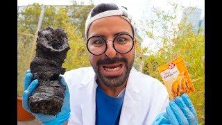 Experiment! Aus Zucker u. Backpulver Kohle machen!!😱