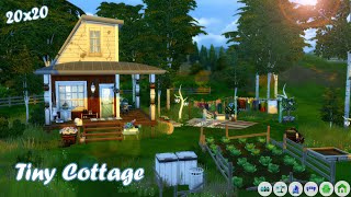 🌻SHABBY TINY COTTAGE🌱| Sims 4 Speed Build | No CC