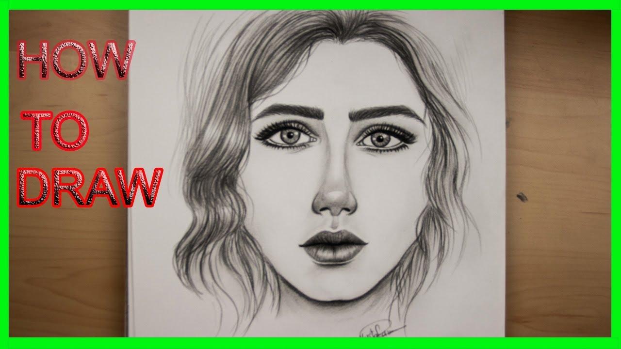 تعليم الرسم للمبتدئين كيفية رسم وجه بنت خطوة بخطوة Youtube